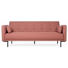 Rozkładana sofa trzyosobowa Amber brudny róż nowoczesna