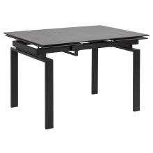 Stół rozkładany Huddersfield 120-200x85 cm czarny mat