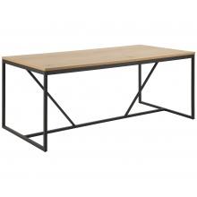 Stół kuchenny Seaford 180x90 cm dziki dąb/czarny industrialny