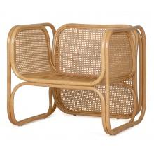 Fotel rattanowy Batu rattan naturalny handmade boho