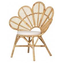 Fotel rattanowy stokrotka Daisy z poduszką rattan naturalny handmade boho