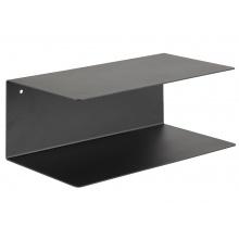 Wisząca półka Joliet 35 cm metalowa czarna mat