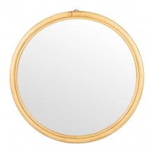 Okrągłe lustro rattanowe Bahij 70 cm rattan naturalny boho