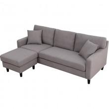Sofa wyjątkowa trzyosobowa Jord szara