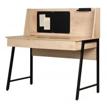 Biurko z tablicą magnetyczną i szufladami Relis 120 cm dąb sonoma/czarne industrialne