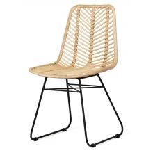 Wyjątkowe krzesło rattanowe Pesaban rattan naturalny handmade boho