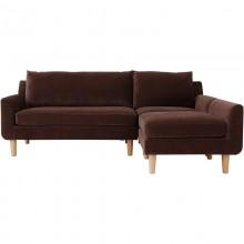 Sofa nowoczesna trzyosobowa Eller brązowa