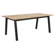 Stół do jadalni Brighton 180x95 cm w jodełkę dąb/czarny