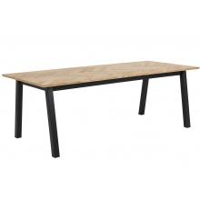 Stół do jadalni Brighton 220x95 cm w jodełkę dąb/czarny