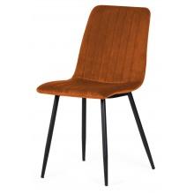 Krzesło z przeszyciami Slay miedziane welur