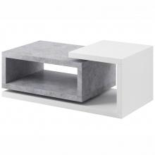 Stolik kawowy Bota z nadstawką biały/beton Colorado
