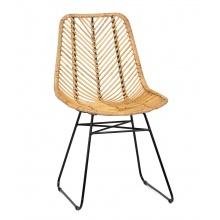 Krzesło rattanowe Pesaban II Jawit rattan naturalny handmade boho