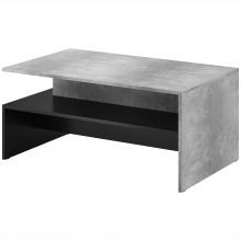 Stolik kawowy Baros czarny/jasny beton