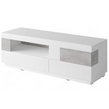 Szafka RTV Silke 160 cm biała połysk/beton Colorado