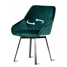 Krzesło welurowe do jadalni Jack zielone