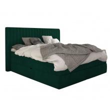 Łóżko kontynentalne Minola 180x200 cm butelkowa zieleń aksamit