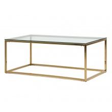 Szklana ława glamour Blanca 90 cm złota