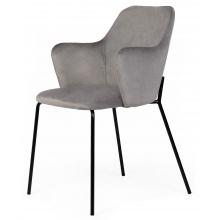Krzesło welurowe do jadalni Figaro szare
