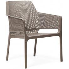 Krzesło ogrodowe Net Relax tortora jasnoszare