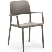 Krzesło ogrodowe Nardi Riva tortora jasnobrązowe