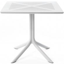Stół ogrodowy Nardi Clipx 80 bianco