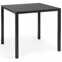 Kwadratowy stół ogrodowy Nardi Cube 70 antracytowy