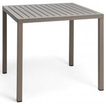 Kwadratowy stół ogrodowy Nardi Cube 70 tortora jasnobrązowy