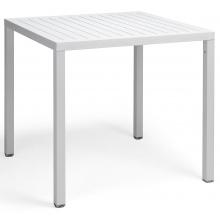 Kwadratowy stół ogrodowy Nardi Cube 70 bianco