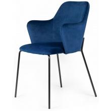 Krzesło welurowe do jadalni Figaro granatowe