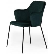 Krzesło welurowe do jadalni Figaro zielone