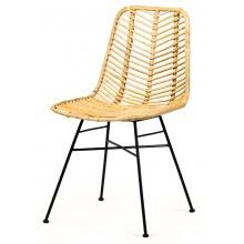 Krzesło rattanowe Uma rattan naturalny Jawit handmade boho