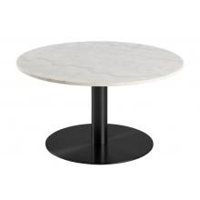 Stolik kawowy Corby 80 cm biały marmur/czarny