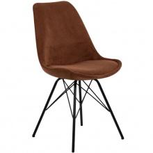 Krzesło do jadalni Eris miedziane sztruks