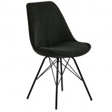 Krzesło do jadalni Eris ciemnozielone sztruks