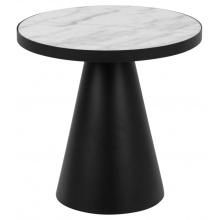Stolik kawowy Soli 46 cm czarny/biały marmur