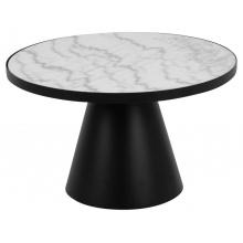 Stolik kawowy Soli 66 cm czarny/biały marmur