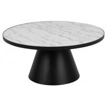 Stolik kawowy Soli 86 cm czarny/biały marmur