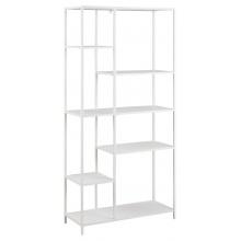 Regał na książki Newcastle 165 cm metalowy biały loft