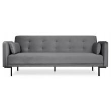 Sofa rozkładana dla trzech osób Amber ciemnoszara nowoczesna