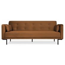 Sofa rozkładana dla trzech osób Amber miedziana nowoczesna