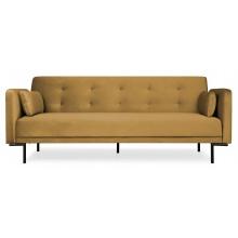 Sofa rozkładana dla trzech osób Amber musztardowa nowoczesna