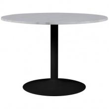 Stół okrągły 110 cm Tarifa marmur biały/czarny