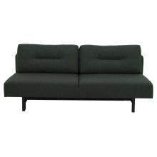 Sofa rozkładana z poduszkami Malling ciemnozielona