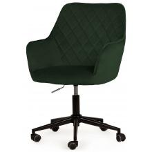 Regulowany fotel obrotowy Sully butelkowa zieleń welur