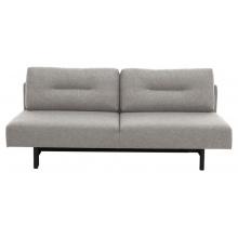 Sofa rozkładana z poduszkami Malling jasnoszara