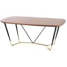 Stół do jadalni Manchester 180 cm orzech czarny/złoty