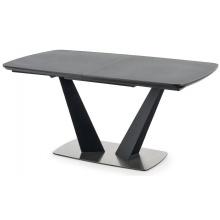 Rozkładany stół Fangor 160-220 cm szary/czarny szklany blat