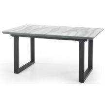 Stół rozkładany Marley160-200 cm biały efekt marmuru szklany blat