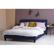 Łóżko z pojemnikiem Matson 160x200 niebieskie welur