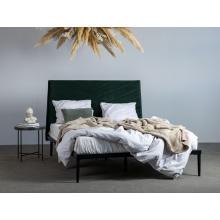 Łóżko Medelin 140x200 butelkowa zieleń welur